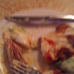 favorite thing you ate: my ravished (and blurry) plate of wings & pizza