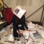 Me obviously covered in eliminated papers.