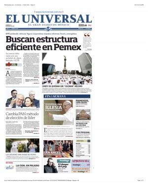 PressDisplay.com - El Universal - 17 Mar 2013 - Page #1