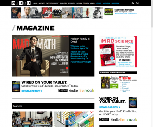 Main page for magazine content.