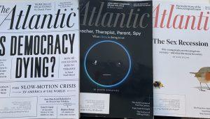 Recent copies of The Atlantic