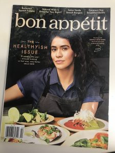 Image of the February 2019 bon appétit cover.