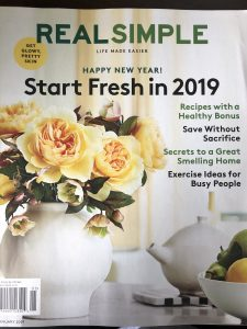 Real Simple January 2019 Cover.