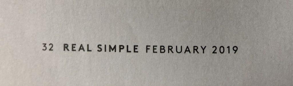 Folio in Real Simple magazine.