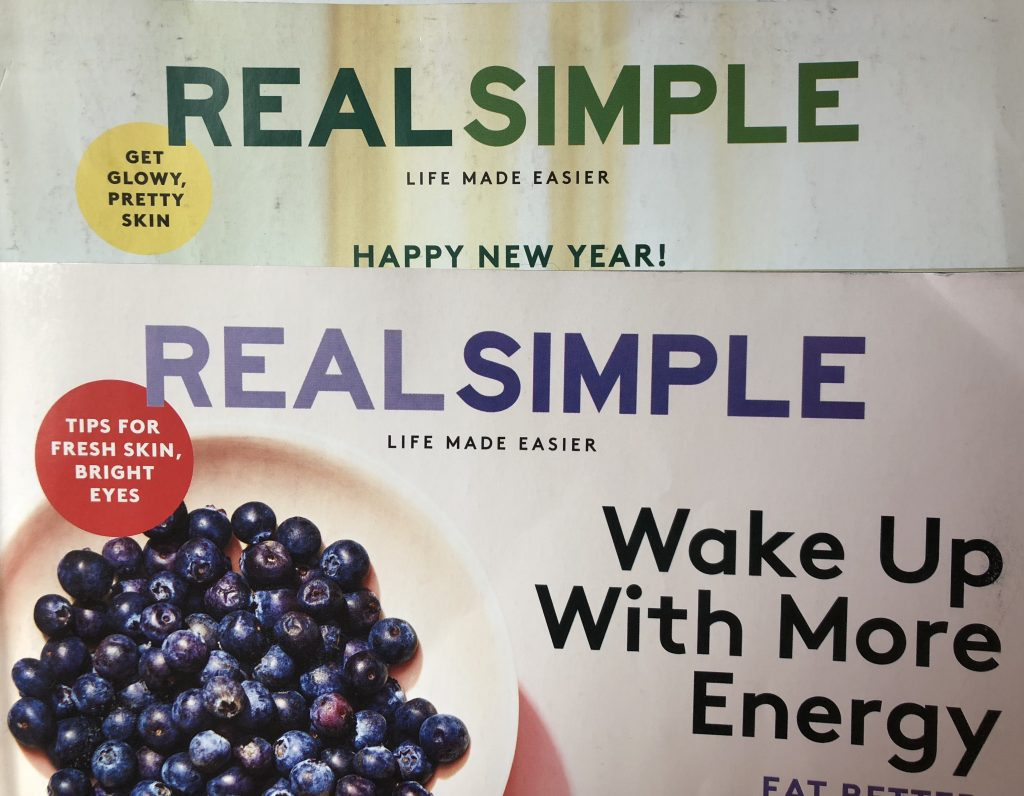 Coverline teaser for Real Simple magazine.