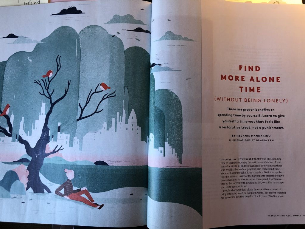 Illustration in Real Simple Magazine