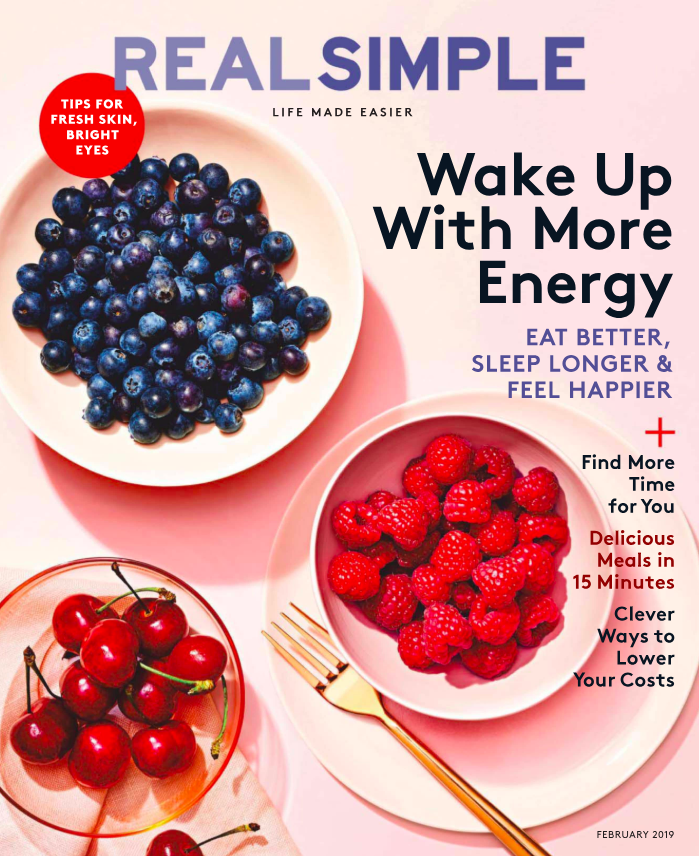 Colors on February 2019 Real Simple issue